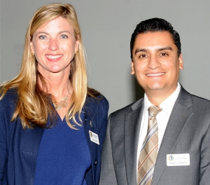 (left) Supervisor Kelly Long with her District Representative and Fillmore City Council Member Manuel Minjares.