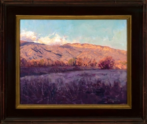 """Lion Creek Meadow, Happy Valley"" by Victor Schiro, 2016, oil on canvas, 23"" x 27"" (available in the live auction)."