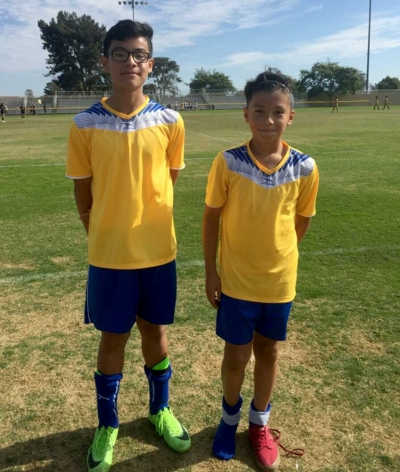 (l-r) Oscar Fuentes and Ivan Espino after a great game versus Atlas. Photo by Ivan Espino.