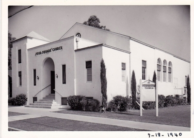 New Foursquare Church on Sespe circa 1940.