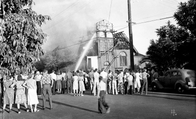 Fire at Foursquare Church 1939.