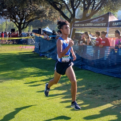 FHS Senior Luis Leon who placed 68th in 19:59.1 in the Cool Breeze Invitational. Photos courtesy Coach Kim Tafoya.