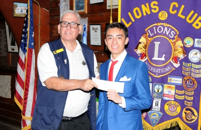 (right) 83rd Lions Club Speaker Contest winner was Anthony Campos.