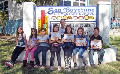 Paula Phillips, from Right Road Kids, spoke to San Cayetano students about what they should do when faced with a challenge and how teamwork can help them reach their goals.