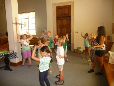 The Bardsdale Methodist Vacation Bible School 'Music Zone' was popular with the kids!