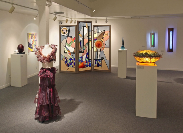 """American Glass Works"" exhibit at the Ojai Valley Museum, Photograph by Roger Conrad."