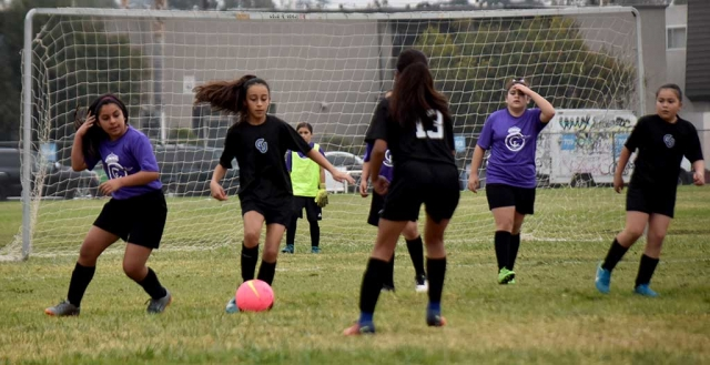 California United's Ashley Hernandez controls the ball in the opponent's box at Saturday's game. Photos Courtesy Evelia Hernandez.