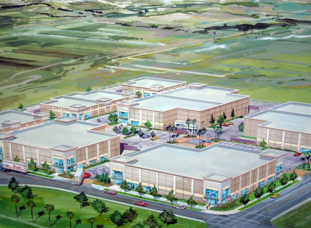 Artists rendering of Fillmore Business Park Master Plan.