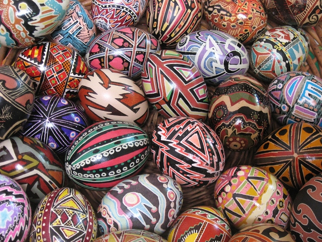 Contemporary decorated eggs by artist/photographer Bernadette DiPietro