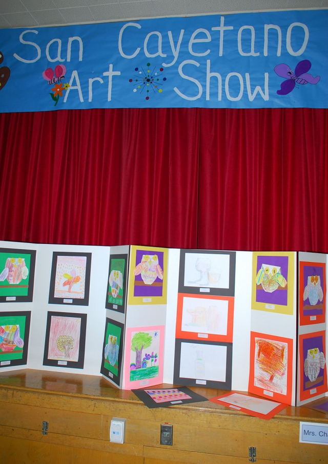 The First San Cayetano Elementary School Art Show, May 28th, presented a wide variety of artwork. The event was sponsored by the Henry Mayo Newhall Foundation and United Parents for Education.