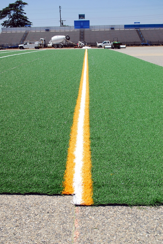 The final phase of FHS improvements are underway with artificial turf being installed. Installation of the all-weather track will be complete by August 2008.