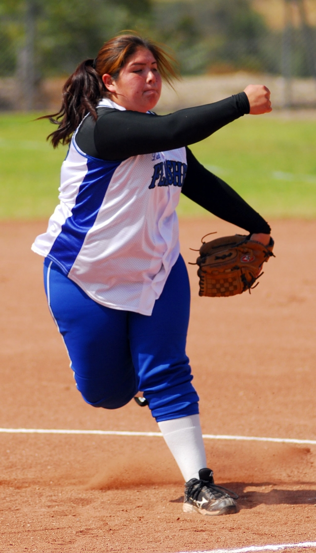 Breanna Martinez pitched a great game against Carpinteria last Thursday in Fillmore's last game in league.