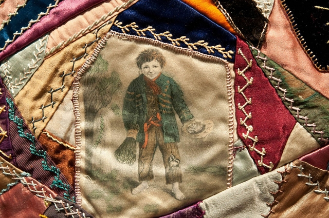 Detail 1884 Crazy Quilt, Photographer Myrna Cambianica