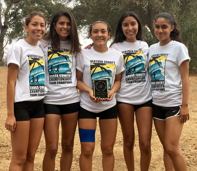 Pictured above are the Fillmore Flashes Girls Cross Country Runners who finished in 6th place at the Lake Casitas 3 Mile Cross Country course this past Saturday. Photo courtesy Coach Kim Tafoya.
