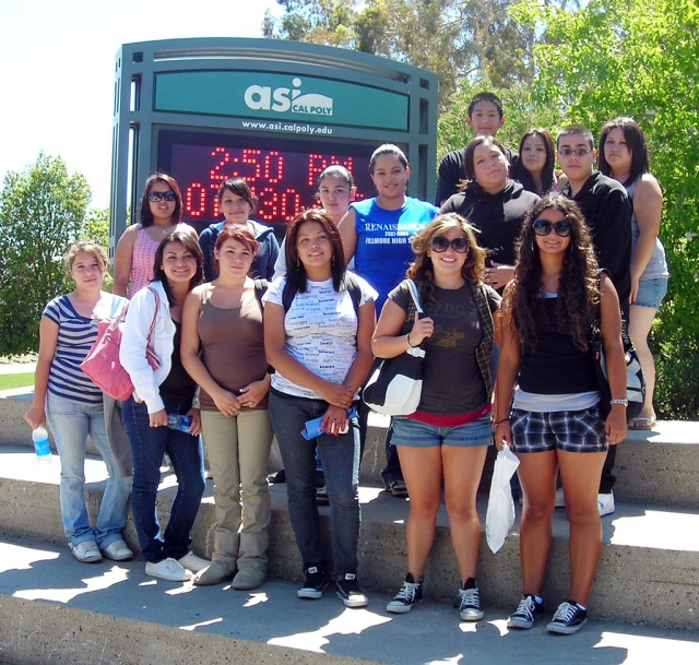 FHS students at Cal Poly