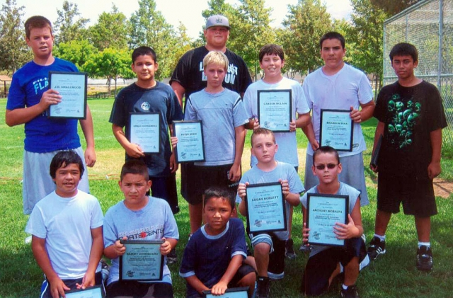 Pictured above: Top row (l-r) J. D. Smallwood, Luis Hernandez, Peter Egedi, Curtis Cole, Carson McLain, Brandon Pina, Damien Almazan. Bottom row (l-r) Trestan Tello, Sammy Dominguez, Joshua Sandoval, Logan Boblett, and Anthony Morales.