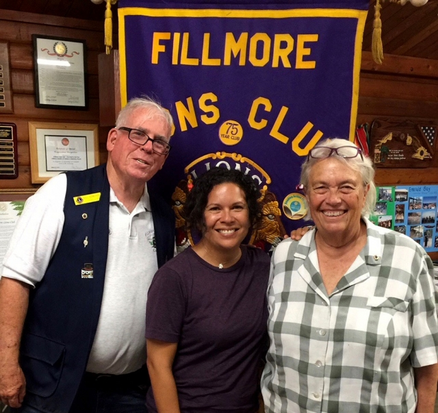 The Fillmore Lions Club inducted two new members at a recent meeting. Club Membership Chair Bill Edmonds (left) is pictured with Jaclyn Ibarra and Bill's wife Lynn Edmonds. Jaclyn and Lynn have participated in Lions Club activities for some time before officially joining. Photo courtesy Brian Wilson.