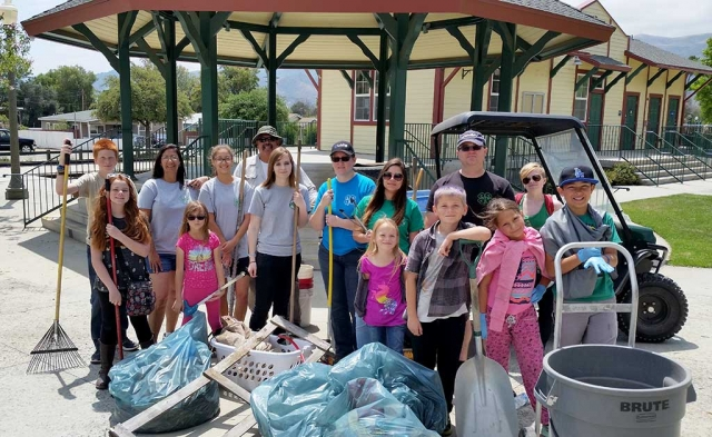 Piru Canyon 4-H helping out the Piru Community with a Spring (May) clean up. They will be planning another clean up in the Fall.