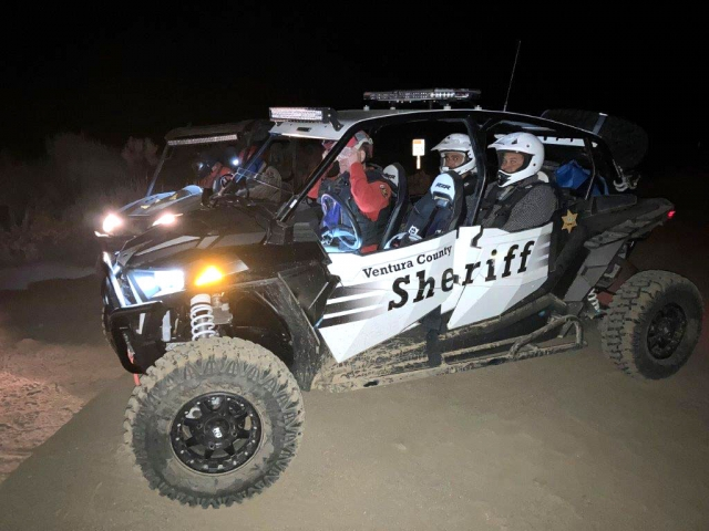 The Polaris RZR four-seat utility-task vehicle (UTV) that was used to help with a rescue at Sunset Campground on July 30th. Photo courtesy Ventura County Sheriffs Department.