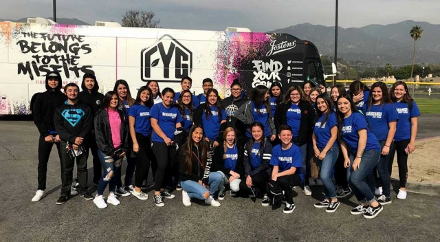 Fillmore High Schools outstanding Renaissance Class attended the Renaissance National Tour at Monrovia High School last week. The students were joined by over 1000 other students from other high schools that shared their passion for changing school.