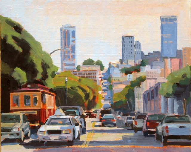 O'Farrell and Jones, San Francisco – 8x10 oil painting by Katherine McGuire