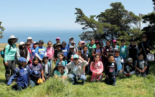 "Pictured above are Piru Elementary School fourth graders and teachers, who traveled to Santa Cruz Island academy, which was made possible by the ""Every Kid in a Park"" National Park Foundation Grant."