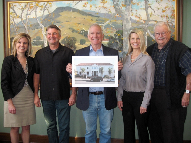 "(l-r) Jennifer Heighton, Executive Director of SPAM; Guy Cole; Lecil ""Lee"" Cole; Suzanne Cole; Bill Orcutt, President of SPAM"