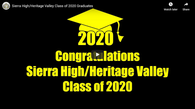 Fillmore Unified School District Presents The Sierra High/Heritage Valley Class of 2020. YouTube video link below.