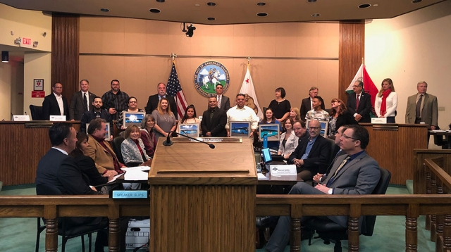 Pictured are representatives of Ventura County's seven Boys & Girls Clubs, recognized by the Ventura County Transportation Commission (VCTC) for their participation in the agency's youth art contest. Courtesy VCTC.