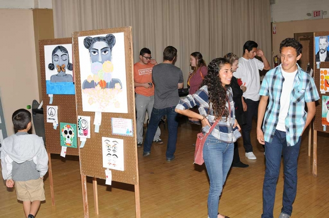 "Fillmore High School Visual and Performing Arts department hosted their annual Art Show ""Road Less Traveled"" this past Thursday March 30th at the Veterans Memorial Building."
