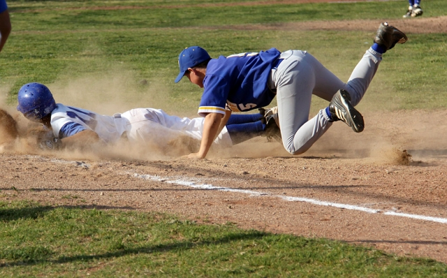 The Fillmore flashes J.V. baseball played against Nordoff last Friday. Fillmore lost 8-4. Above Fillmore is tagged out at third.