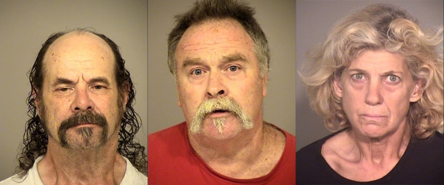 (l-r) Jesurun Cyrus, 65 of Fillmore, Travis Collett, 59 of Fillmore, Dawn Allen, 55 of Fillmore.