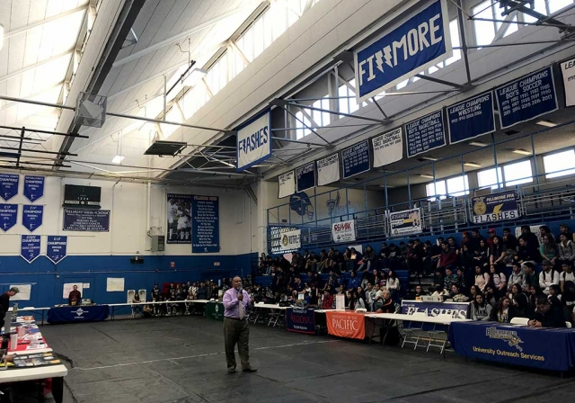 Last week Fillmore High School held College and Career Day for 11th and 12th grade students. The students had the opportunity to speaks with colleges, technical jobs, military, small businesses, etc. Photo courtesy Katrionna Furness.
