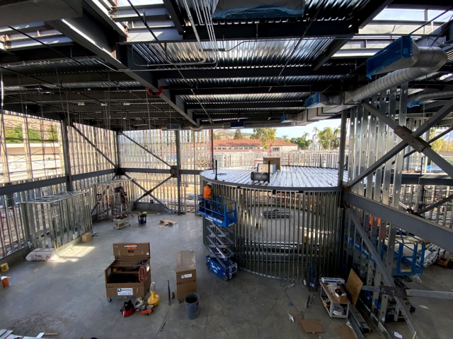 Construction has been underway on the new FHS Career Technology Education (CTE) buildings since summer/fall of 2019. FHS will have a new Agricultural and Transportation Building as part of the funds Fillmore Unified was awarded in the November 2016 election on Measure V. Pictured above and below is the construction going on inside the Agricultural building.