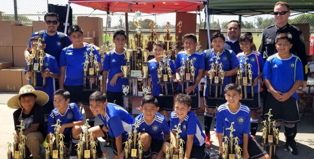 Pictured above are the California United FC 2008 Boys who were the Champions of their division in the Oxnard County Soccer League. Top left to right: Head Coach Genaro Saul Magana, Julian Medina, Hector Hernandez, Jaycob Guzman, Christian Solis, Jurem Virgin, Juan Medina, Israel Arroyo; Bottom left to right Nathaniel Negrete, Jesus Canchola, Christian Ramirez, Julio Ballesteros, Jayden Guzman, Angel Garza. Not pictured: Abe de la Cruz. Photo courtesy Nancy Vaca.