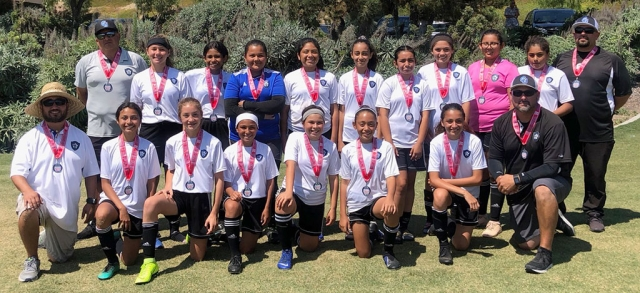 Pictured above California United FC 2006G Silver Top: Cip Martinez (AC) Mikayla Mckenzie, Jadon Rodriguez, Jasmine Soto, Alexis Piña, Ashely Hernandez, Isabel Hernandez Athena Sanchez, Gabriela Martinez, Kim Manriquez, and Ramiro Reyes (AC)-Bottom: Tony Hernandez (AC) Miley Tello, Brooke Núñez, Livia Cabral, Karissa Terrazas, Victoria Piña, Jessica Rodriguez, and Jr Lomeli (HC). Photo courtesy Susan Torres.