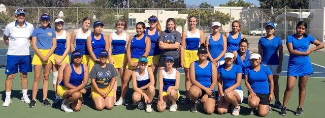 Fillmore Flashes Girls Tennis Team along with Nordoff after their match on September 25th. Photos courtesy Coach Lolita Bowman.