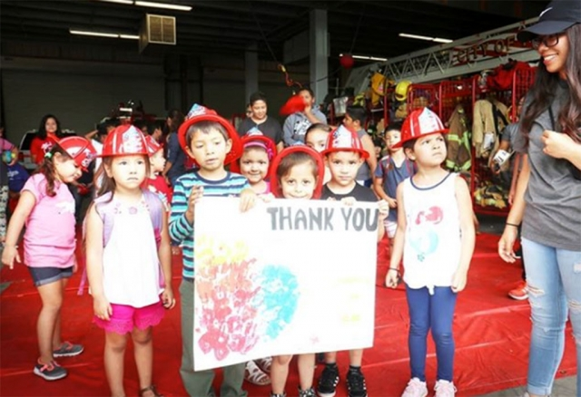 Fillmore Fire Station 91 would like to thank the special visitors from Full Circle Learning in Piru who came out to the station and presented the crew with thank you signs and gifts made by the students, thanking the firefighters for all they do in the community. Photos courtesy Fillmore Fire Department.