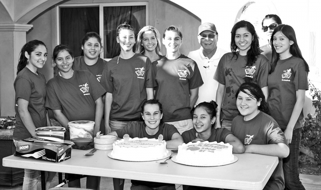 Pictured above but not in order: Coach Burns, Jazzmin Galvez, Conchita Meza, Yesenia Avila, Amparo Magana, Victoria Ayala, Mariah Rivas, Aimee Orozco, Jillian Wilber, Kyla Hernandez, Cristina Baena, Assistant Coach Amelia Aparicio. Not pictured are Rebecca Herrera, Nadia Lomeli, and D. Villa Gomez.