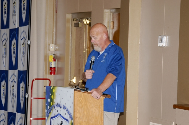 Joe Wood spoke at the Fillmore High School Hall of Fame event.