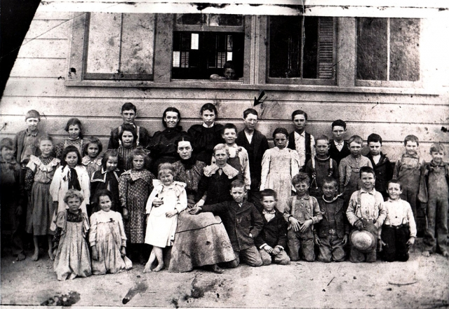 Zuleika Guiberson with her Willow Grove School Class of 1898. Photos courtesy Fillmore Historical Museum.