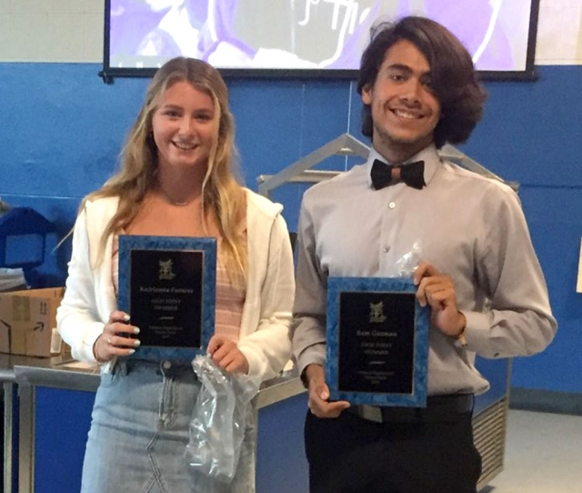 2018-19 Citrus Coast League High Point: Katrionna Furness and Sam Guzman.