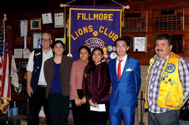 Pictured above are the students who participated in the 83rd Lions Club Speaker contest this past Monday, February 3rd at the Fillmore Scout House.