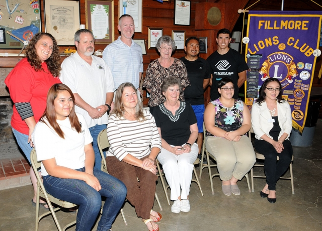 The Fillmore Lions Club held a regular meeting on Monday, October 6th, where it gave away $12,000 to 10 local programs. List of Checks Presented at Lions Club: One Step A La Vez,$1,000; Scout Foundation, $5,000; Historical Society, $750; Friends of the Library, $500; FHS Drama, $500; FHS Sports $500; AYSO, $500; Senior Center, $1,000; FHS Band, $1,000; Boys & Girls Club $1,000; Total Presentation tonight $12,000; Total Fillmore Lions local community donation budget 2014 – 15 $26,400; Total Fillmore Lions Lion related project budget $5,400.