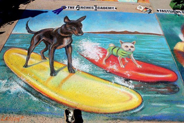 "Lysa Ashley's ""Surfing Dogs"""