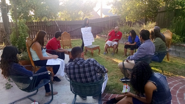 One Step youth leaders setting goals and strategies for their committees. Photo by Lynn Edmonds.