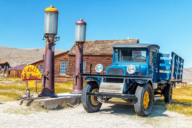 "Photo of the Week: ""Blue Dodge truck at the Bodie ghost town"" by Bob Crum. Photo data: Canon 7DMKII camera, Av mode, with Canon EF-S 15-85mm lens with polarizer filter. Exposure; ISO 640, aperture f/11, 1/250sec shutter speed."