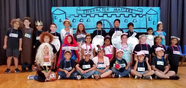 "On Tuesday, May 16th at San Cayetano Elementary, Mrs. Gosselin's third grade class performed a musical called, ""Character Matters."" The musical was about how fairy tale characters learn good character traits such as being kind and responsible. The following students who were in the musical in no specific order are pictured above: Desteny Acosta, Giovanni Alcala, Ashley Alvarez, Briana Alvarez, Daniel Baron, Daisy Bautista, Lila Bunheirao, Carlos Cabral, Layla Cabral, Jesus Canchola, Angel Garza, Hector Hernandez, Leo Hernandez, Sofia Ibarra, Natalie Jacinto, Andrew Luna, Lisbeth Magana, Lizbeth Mendez, Alex Miller, Nathaniel Ponce, Jonas Ramirez, Luis Roque, Aliorah Salas, Christopher Tobias, Juan Torres, and Jazleen Vaca. Photos Courtesy Lisa Gosselin."
