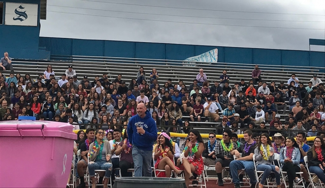 Last Friday, June 1st Fillmore High School hosted their Farewell Rally to say their final goodbyes to the 2018 Graduates. The rally was held on the Fillmore High School football field. The underclasses watched from the stands as the senior's sat on the track. FHS staff gave an entertaining performance for the seniors in their goodbyes to the senior class as well. Photos courtesy Katrionna Furness.