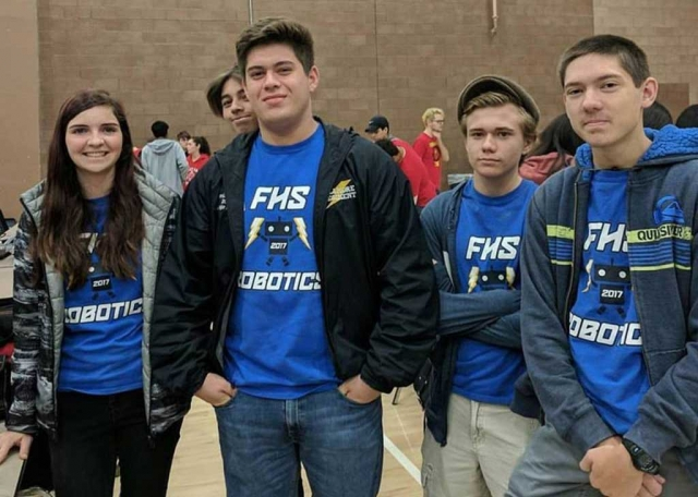 Pictured are some of the Fillmore High School Robotics' Club attended the Bakersfield Vex League Competition #3 on November 11th. Also pictured is their prototype they entered in this year's competition which is held from October 2017-January 2018.